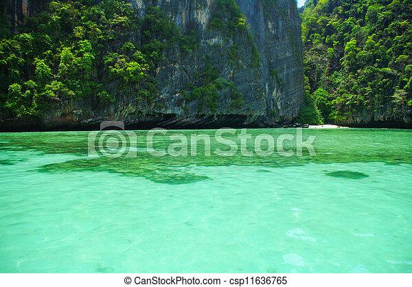 překrásný, konzervativní, thajsko, asie, moře, jih - csp11636765