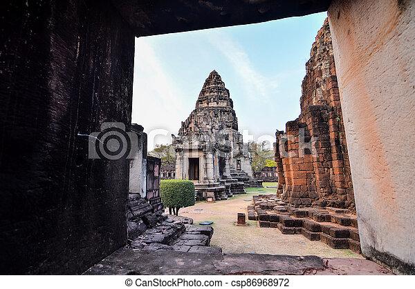 překrásný, thajsko, phimai, fotografie, asie, troska, thai, zaujatý - csp86968972