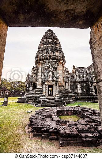 překrásný, thajsko, phimai, fotografie, asie, troska, thai, zaujatý - csp87144607