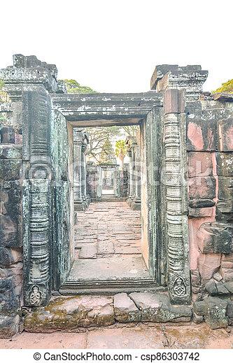 překrásný, troska, thajsko, fotografie, thai, phimai, asie, zaujatý - csp86303742