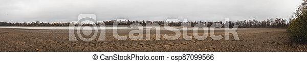 rybník, odčerpat, čech, trebon, svet, rybník, republika - csp87099566