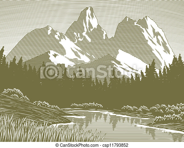 Scéna jezero - csp11793852