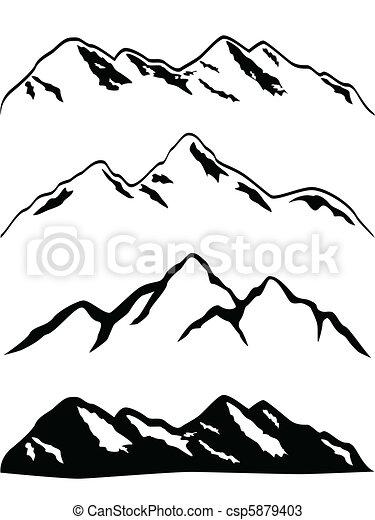 Sněhové hory vrcholky - csp5879403