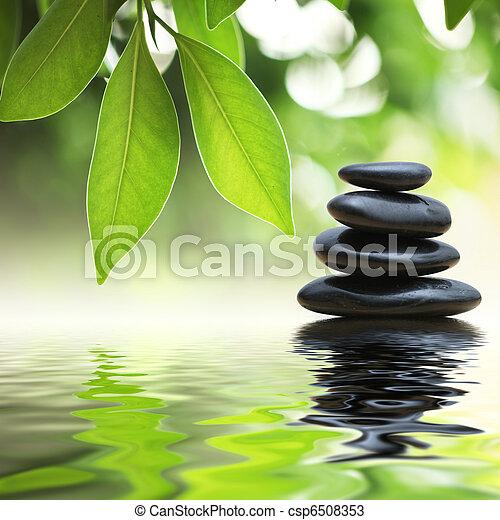 stones, namočit, pyramida, zen, vynořit se - csp6508353