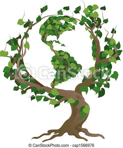 strom, ilustrace, vektor, společnost, nezkušený - csp1566976