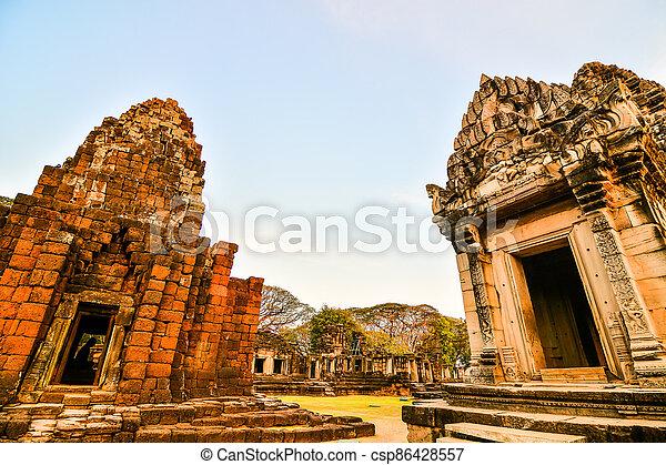 thai, fotografie, troska, asie, thajsko, překrásný, zaujatý, phimai - csp86428557