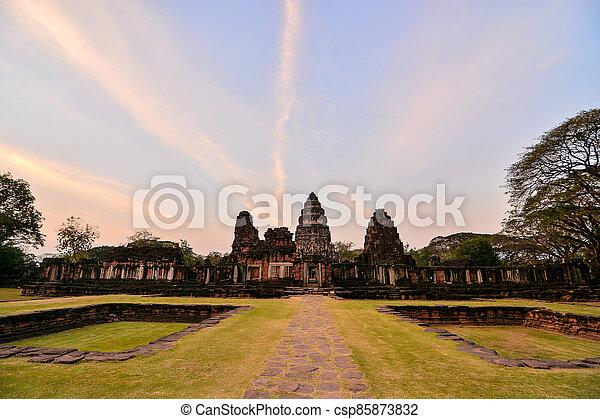 troska, thai, fotografie, thajsko, překrásný, zaujatý, phimai, asie - csp85873832