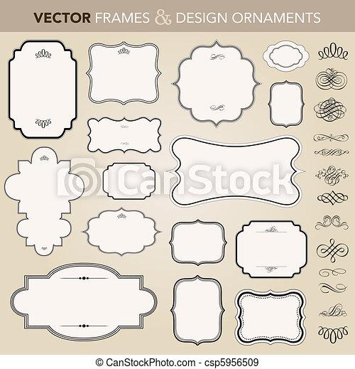 Vektorové sady a ornamenty - csp5956509