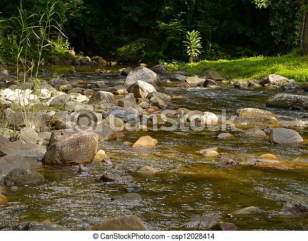 vodopád, malý - csp12028414
