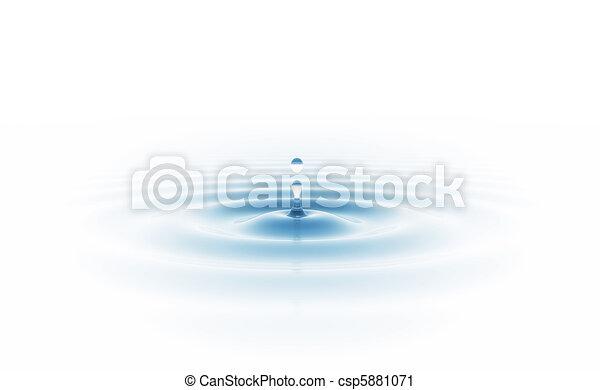 zředit vodou poslat řádku, osamocený, neposkvrněný - csp5881071