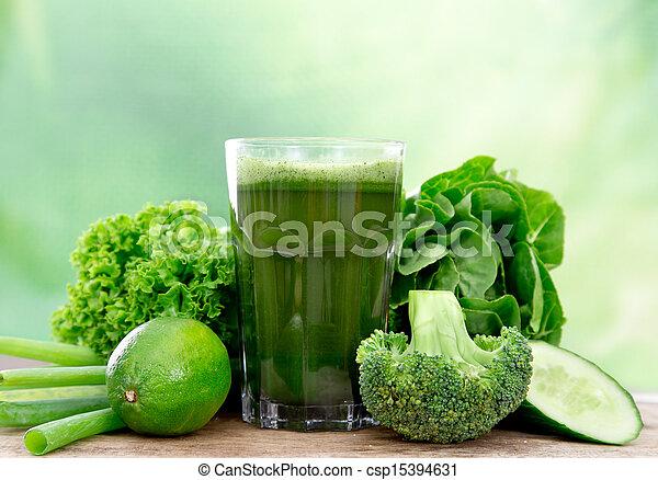 Zdravý zelený džus - csp15394631